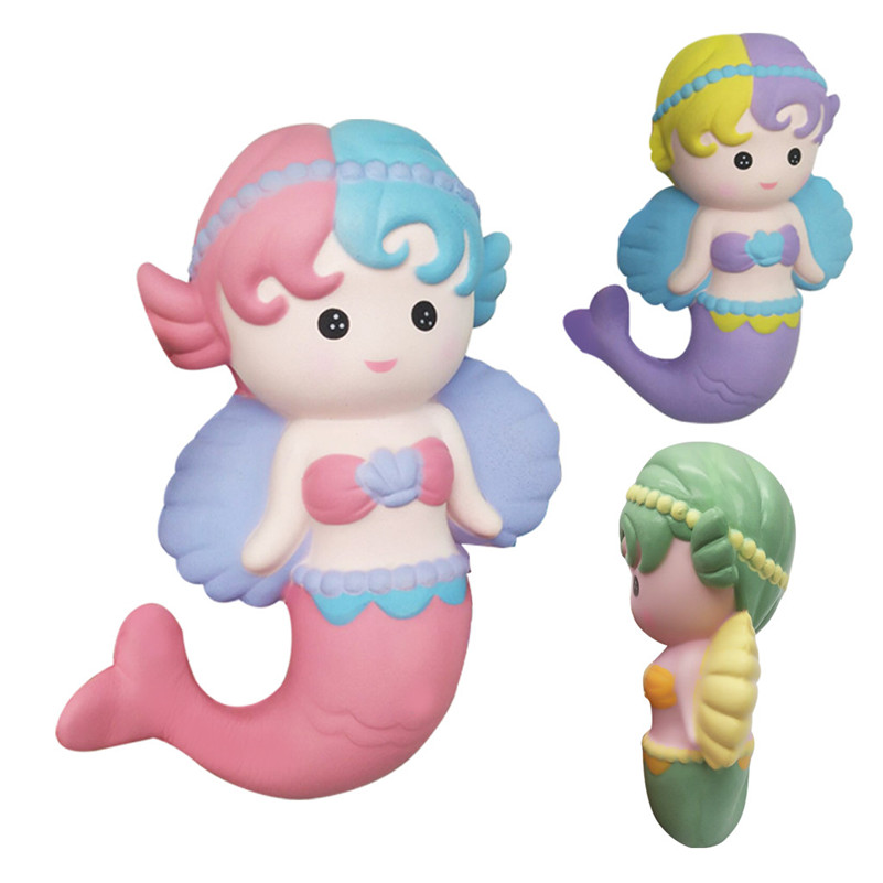 Angel Mermaid Slow Rising Stress Relief ToyS Kids Toy Gift-Party Favors For Kids Squash Jumbo  Anti-stress Slow Rising Toy F1
