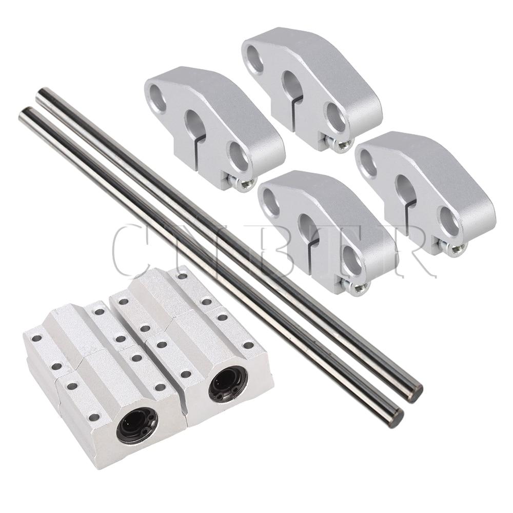 10x CNBTR Vertical Linear Ball Bearing Rail Support 20cm Optical Axis 8mm OD цены