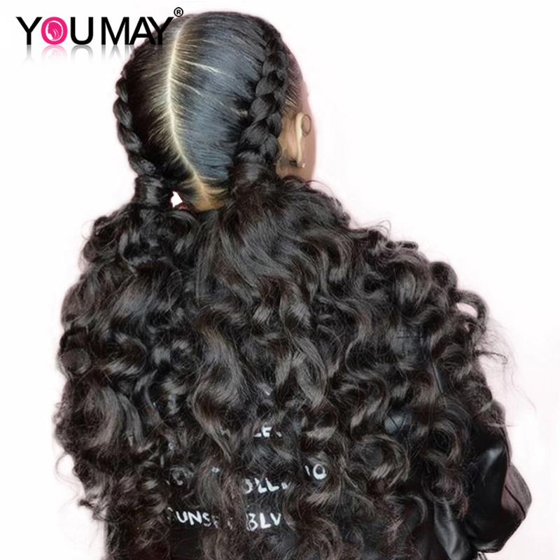 Full Lace Human Hair Wigs Pre Plucked Baby Hair 150 180 250 Loose Wave Glueless Transparent Full Lace Wig For Women You May Remy