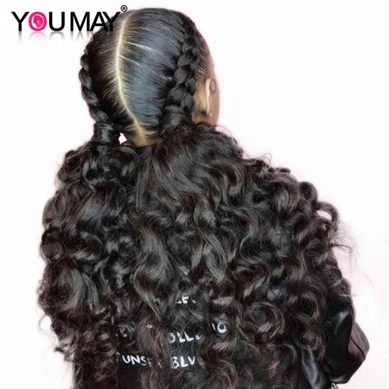 Pełna peruki typu lace z ludzkich włosów Pre oskubane dziecko włosy 150 180 250 luźne fala Glueless przezroczyste peruka na koronce dla kobiet, może Remy w Peruki z ludzkich włosów na siatce od Przedłużanie włosów i peruki na AliExpress - 11.11_Double 11Singles' Day 1