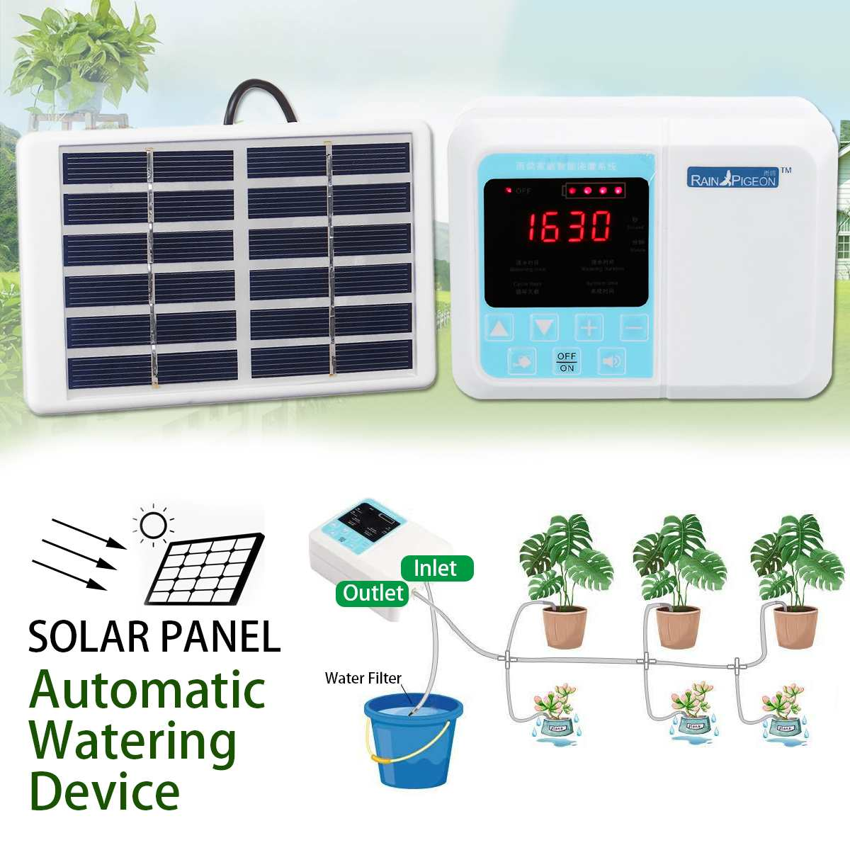 Intelligente Timing Automatische Bewässerung Topf Gartenarbeit Garten Werkzeuge Solar Tropf Wasser Versickerung Einzigen Pumpe Modell