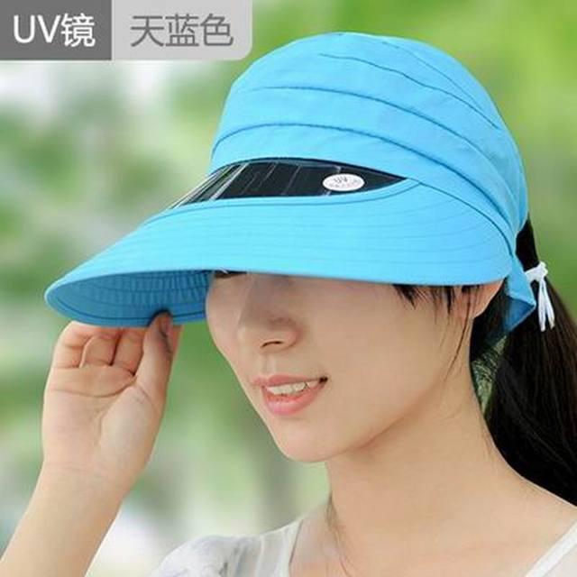 Sombrero del sol-shading de las mujeres sombrero de las mujeres sombrero de verano anti-ultravioleta grande protector solar plegable