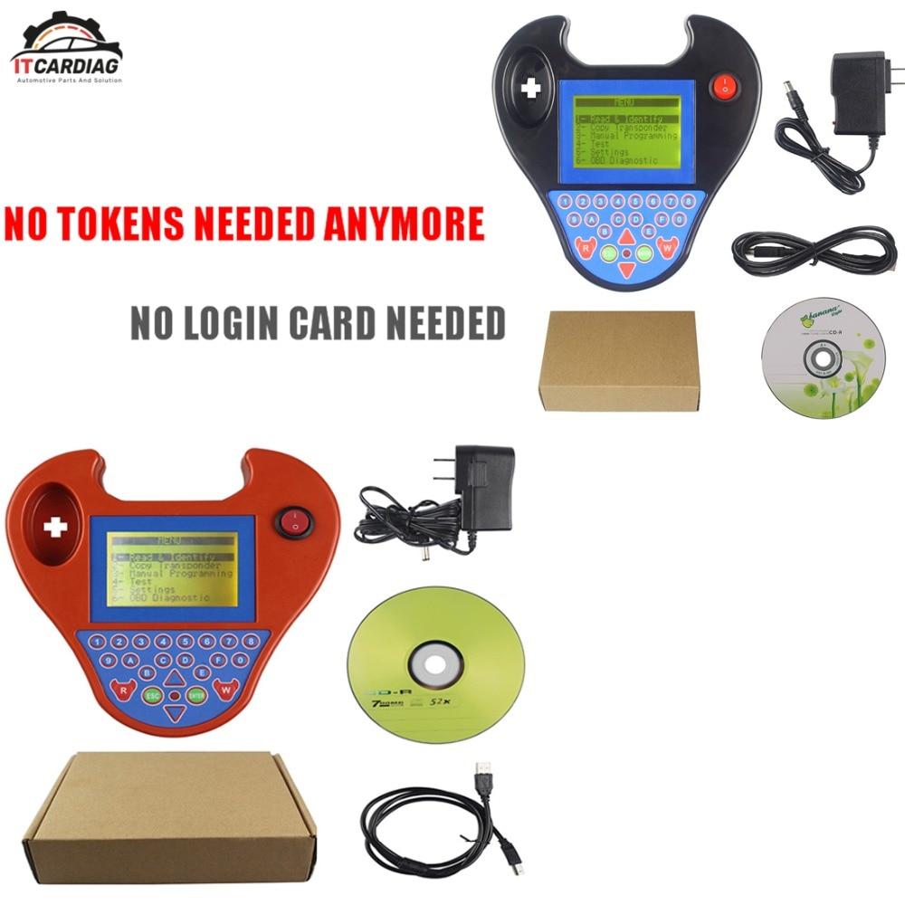 Mini Type Smart Zed Bull ZedBull Key Programmer Black and Red Color No Tokens Limitation Car Key Programmer No Login Card Needed