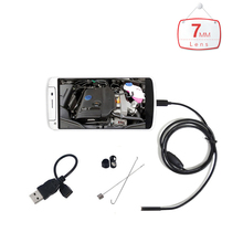 7mm Lens 6LED Waterproof Android PC USB Endoscope with 1m/1.5m/2m/3.5m/5m/ Length Cable Micro OTG USB Endoscope for Android PC
