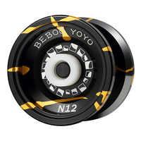 Metal yoyo yoyo profissional conjunto yo yo + luva 5 cordas n12 yo-yo liga de alta qualidade yoyo clássico brinquedos diabolo presente crianças brinquedo