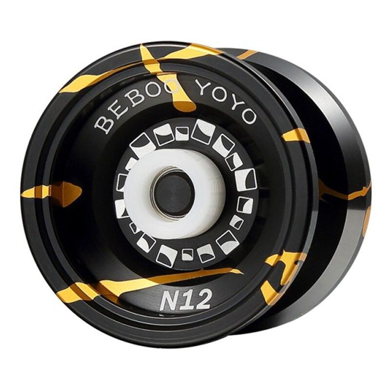Yoyo profesional Yoyo conjunto Yo yo Yo + guante + 5 cuerdas N12 yo-Yo de Metal de alta calidad Yoyo juguetes clásicos pellet Diabolo pellet cuentas regalo presente