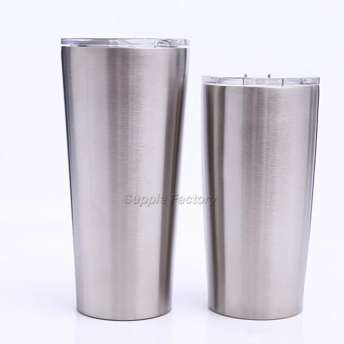 25pcs 24oz 20oz tumbler Coffee Mug 304 Stainless Steel Double Wall Vacuum Insulated Beer Cups Drinkware