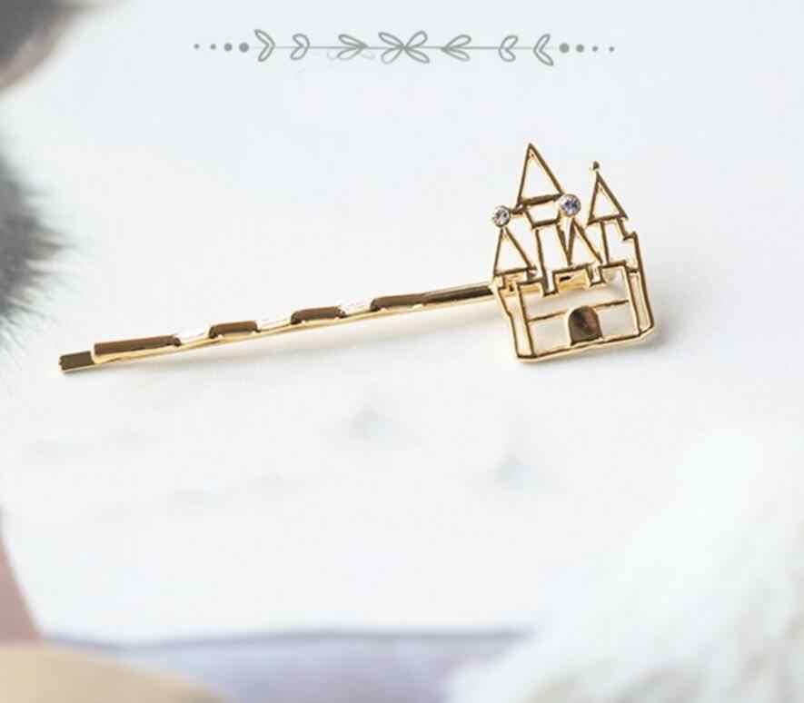 Timlee h108 gratis verzending mode haar medeplichtige leuke kasteel de pompoen vervoer hoge hakken haarspeldjes haarspeldjes
