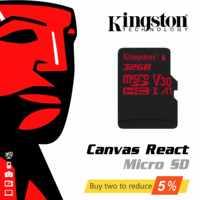 Original de Kingston Digital 32GB 64GB microSDHC UHS-I Clase 3 U3 90R/80W Flash tarjeta de memoria (SDCR/32 GB/64 GB/128 GB)