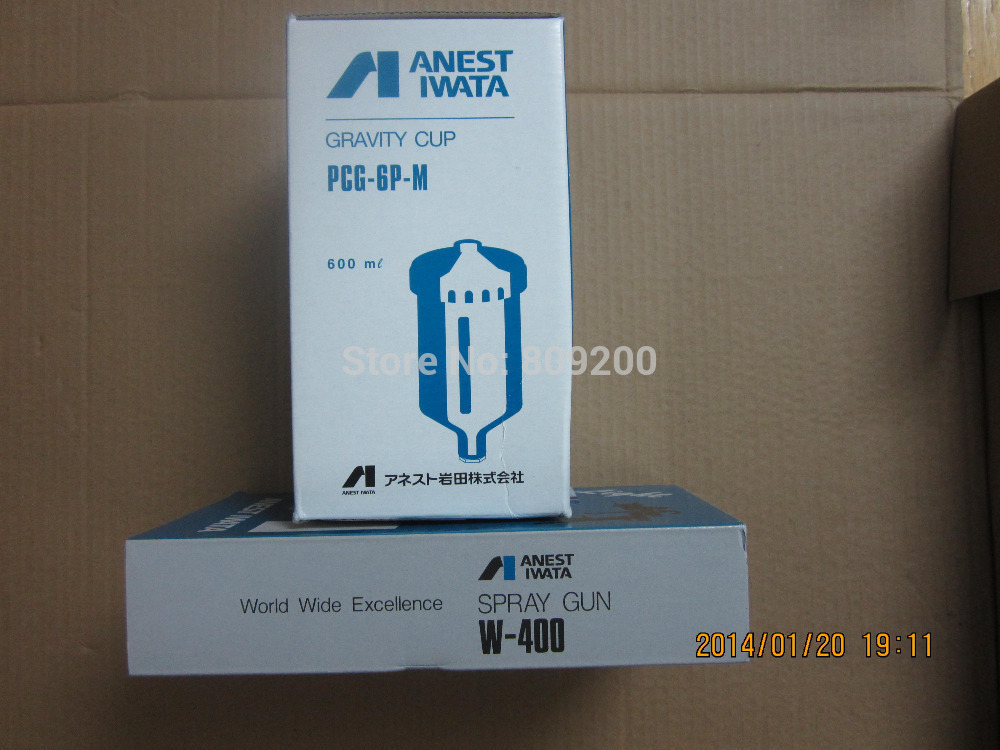 ANEST IWATA PCG-6P-M 600 ml Plastic Gravity Cup for W-400 LPH-400 4538995084355