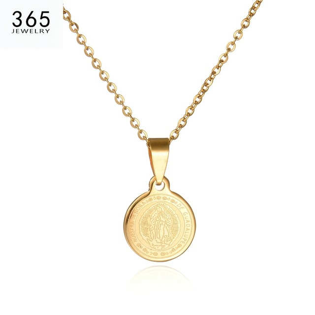 2017 new body coin necklace gold chain men pendant necklace round 2017 new body coin necklace gold chain men pendant necklace round stainless steel brand jewelry for mozeypictures Gallery
