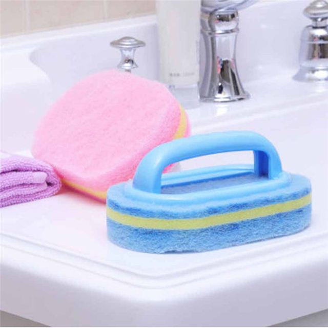 Sponge Handheld Cleaning Brush For Kitchen Bathroom Toilet Brush Wall Floor Windows Cleaner Household Cleaning Tools Brushes