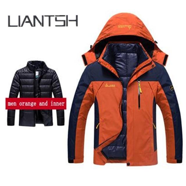 6fcd52a5df73 US $60.4 20% OFF Winter Warm Inner Fleece Waterproof Yellow Jackets and  Outdoor Exercise,Brand Coat Camping Trekking Skiing Fleece Outdoor  Jacket-in ...