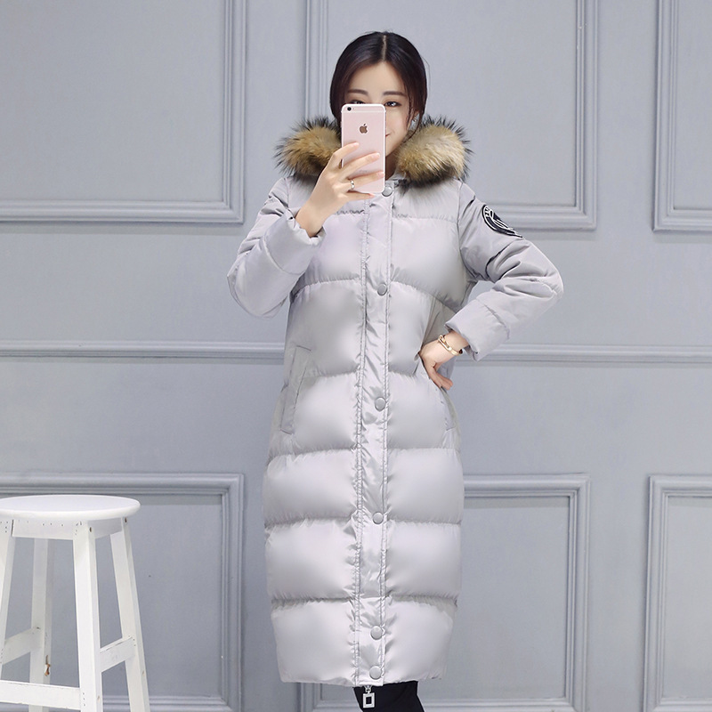 ФОТО Womens Winter Jackets And Coats Sale Real 2016 Korean Winter Long Thick Down Female Large Size Women Fat Padded Jacket Coat Mm