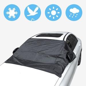 Image 3 - مظلة السيارات مع المغناطيس لتجنب أشعة الشمس المطر الجليد الثلوج حماية الزجاج الأمامي مع حقيبة التخزين