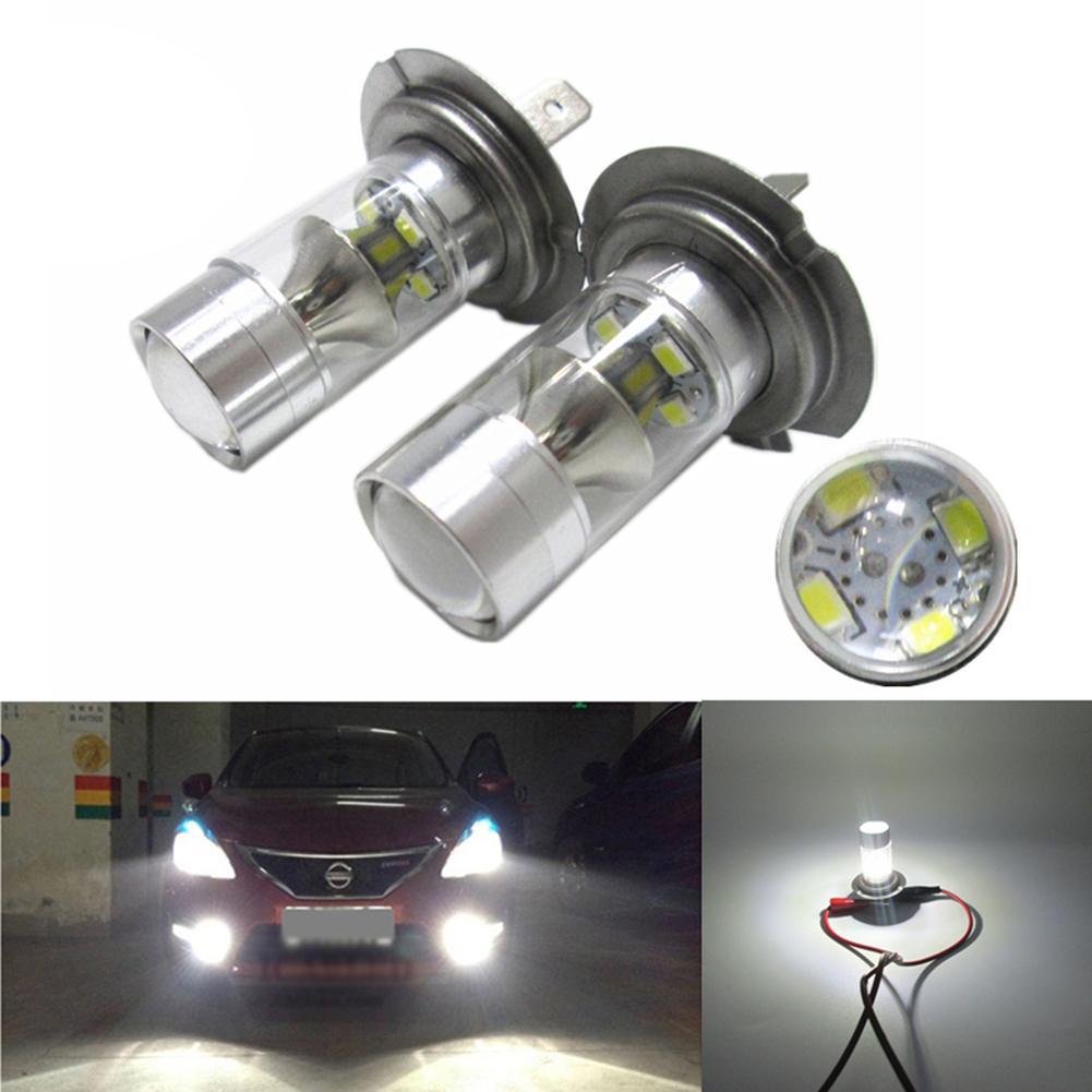 1 Pcs H 7 60 W Aluminum Alloy Led Car Light LED Bulb Car Styling Side Headlight Fog Auto Front And Rear Fog Lamp Auto Supplies