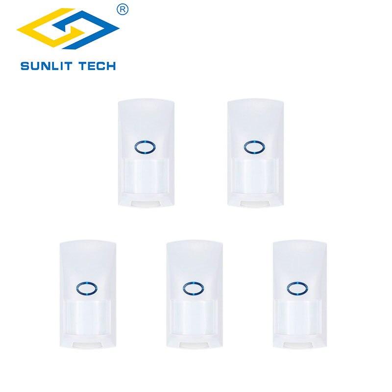 Wired Interior Duplo PIR Sensor de Movimento Pet Imunidade 20 KG Infrared Sensor de Movimento Detector de Segurança Sistema de Alarme Para Casa Inteligente