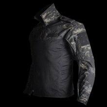 Mega taktik askeri teçhizat savaş gömlek kamuflaj Multicam siyah erkekler kadınlar taktik gömlek Airsoft CS gitmek giyim Typhon