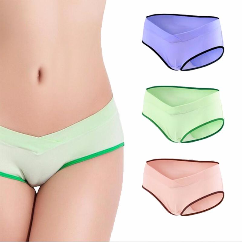 Underwear ztov 3 sztuk/partia bawełna ciąży macierzyństwa kobiet majtki kobiet w ciąży ubrania w kształcie litery u niskiej talii majtki m l xl xxl k11 16