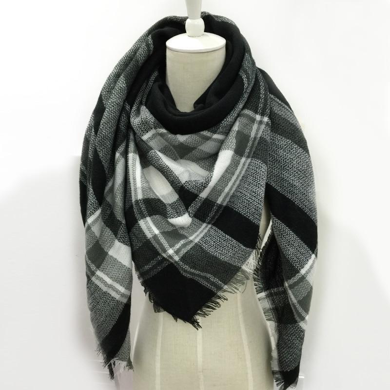 bufanda de invierno mujeres plaid pashmina chales y bufandas de cachemira abrigo de la bufanda del