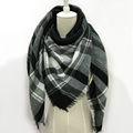ZALA Winter Scarf Women Plaid Cashmere Scarf Wrap  Triangle Scarf Warm Pashmina Shawls and Scarves Long Shawl