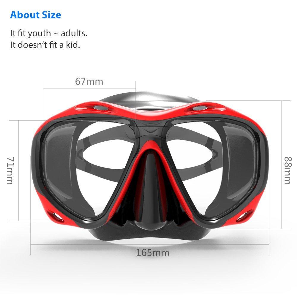Masë maskë maskë e markës Copozz, Skuba për - Sporte ujore - Foto 3