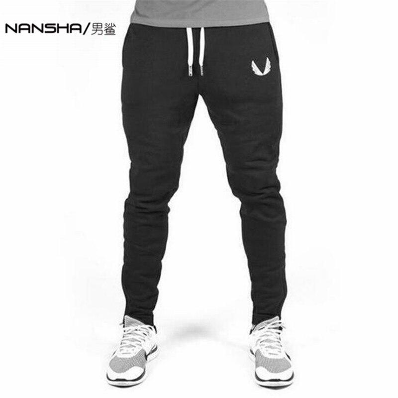 2017 di Alta Qualità Pantaloni Jogger Pantaloni Uomo Fitness Bodybuilding Palestre Per I Corridori Marchio di Abbigliamento Autunno Sudore Pantaloni Britches