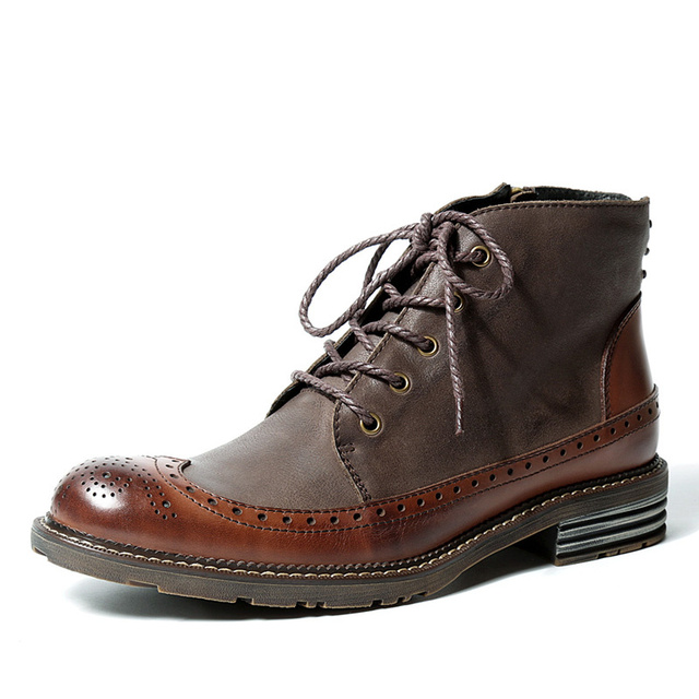 Men Casual Real Leather Shoes British Style Dress Formal Oxfords Winter Sneakers