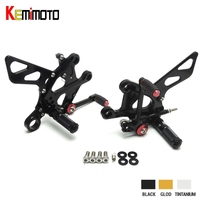KEMiMOTO New 2015 2016 GSX S1000 F CNC Aluminum Footrest Adjustable Rearset Rear Set For SUZUKI GSX S1000 / F ABS 2015 2016