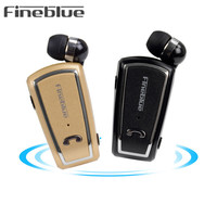 Fineblue F V3 Retractable Wireless Stereo Mini Earphones Bluetooth V4 0 Headset With Clips Sport Runnig