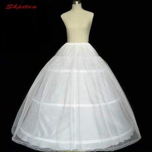 Image 2 - Robe de bal blanche 3 cerceaux jupon pour robe de mariée moelleux Crinoline femme sous jupe filles cerceaux jupe jupon