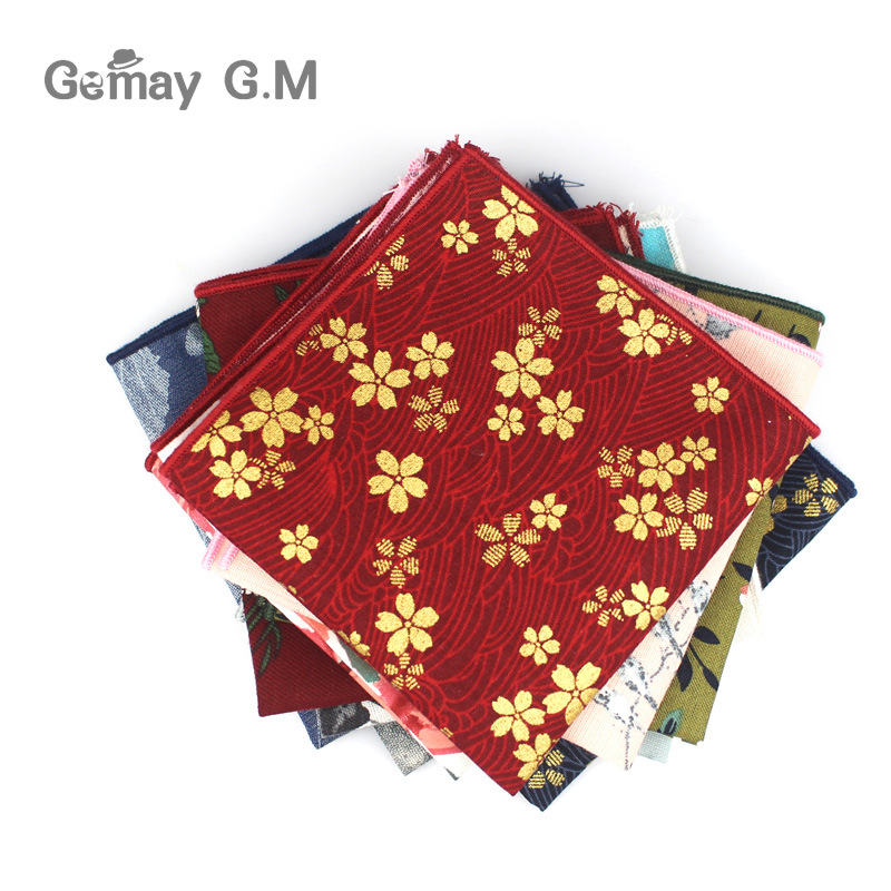 b62048fdd64b Casual Cotton Floral Printed Pocket Square for Men Handkerchief Mens  Business Suits Hankies For Women 25cm
