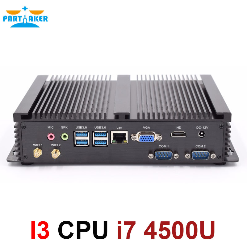Mini Computador Fanless Mini-pc Windows 4500U 2 * RS232 10 Core i7 PC industrial Robusto PC 4 K Ultra exibição HD
