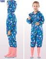 Raincoat Kids Jumpsuit Children  One-Piece Cartoon Hooded Raincoat Suit