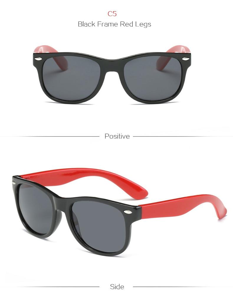 Oulylan Polarizada Óculos De Sol Crianças Candy Cor Meninos Meninas ... dd789e7df3