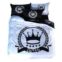 Svetanya Real juego de Cama ropa de Cama de Impresión Individual Doble Reina Rey Tamaño 100% Algodón Negro y Blanco de la Serie