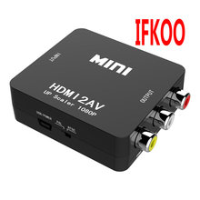 HDMI TO AV CVBS to MINI  HDMI Adapter HD 720P 1080P AV2HDMI  Video Converter hdmi to av cvbs to mini hdmi adapter hd 720p 1080p av2hdmi video converter
