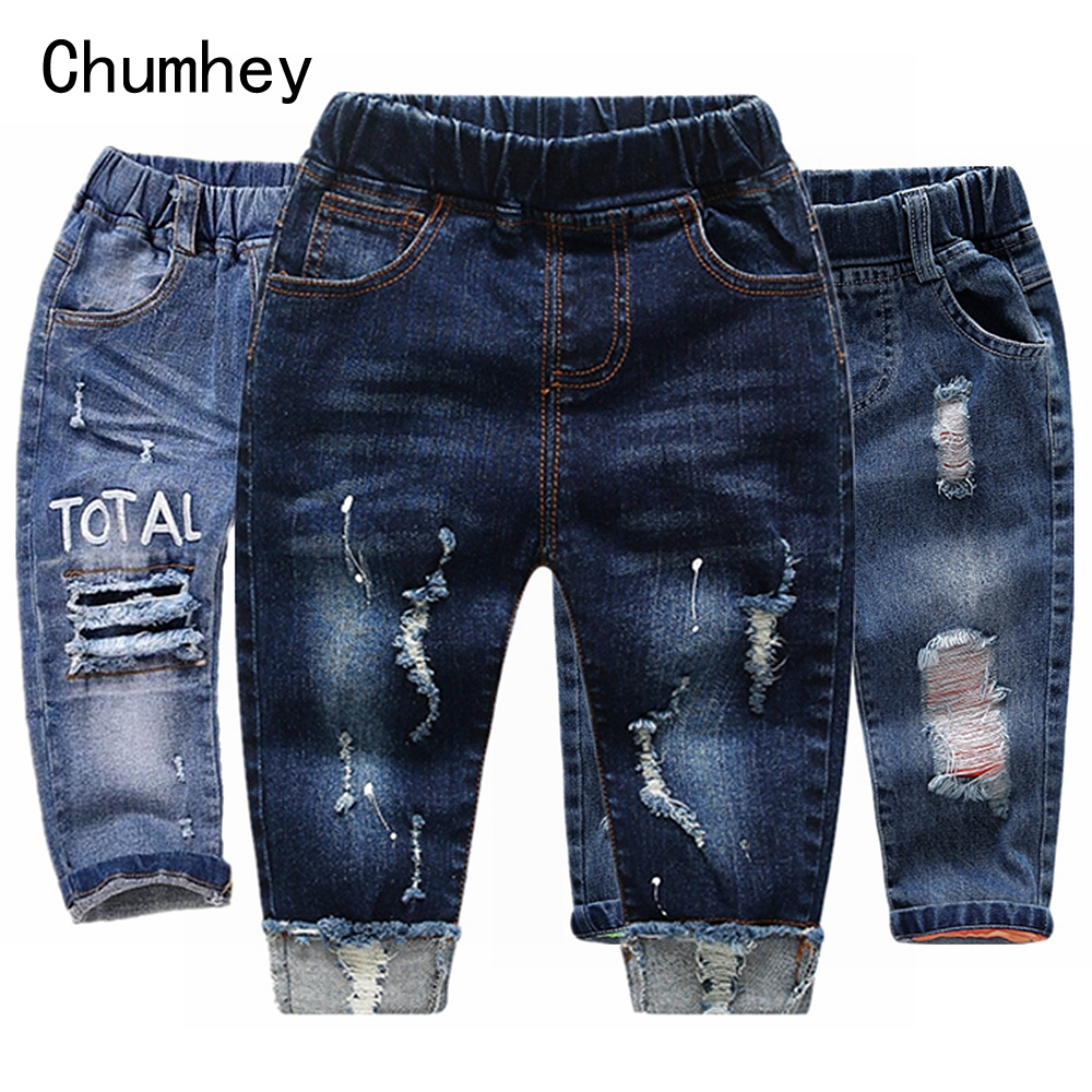 Chumhey Girls Jeans Pants Trousers Toddler Baby Boys Stretchy Denim Children Thicken