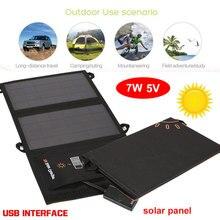 Folding 5V 7W USB port solar panel power bank solar cell smartphone Emergency Power Supply fast charger battery solar generator