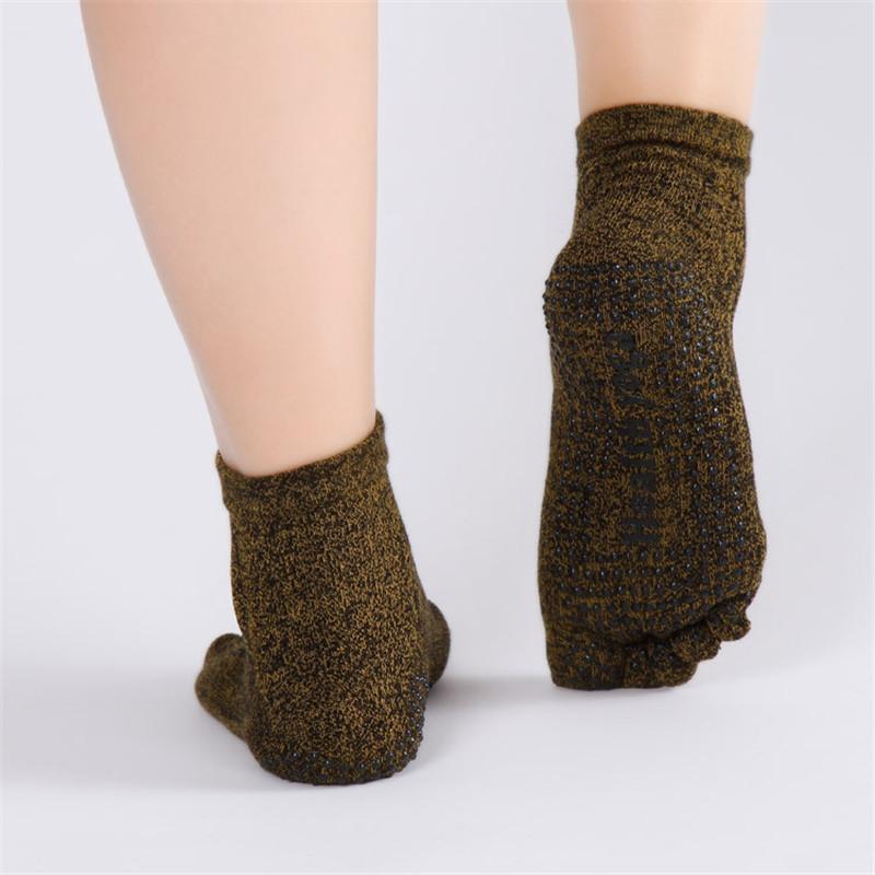 Pure-Cotton-Men-s-Yoga-socks-Non-Slip-Skid-Absorb-Sweat-Breathable-5-Toe-Grips-Pilates (2)