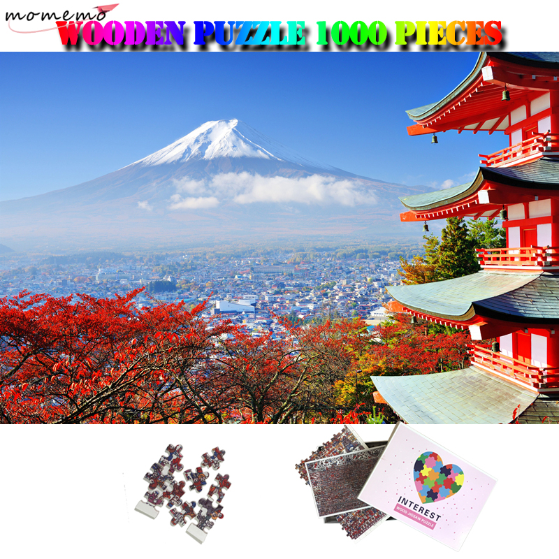 MOMEMO Beautiful Fujiyama Jiagsaw Puzzle 1000 Pieces Japan Landscape Adults Puzzle Customized Interesting Puzzle Toys Home Decor