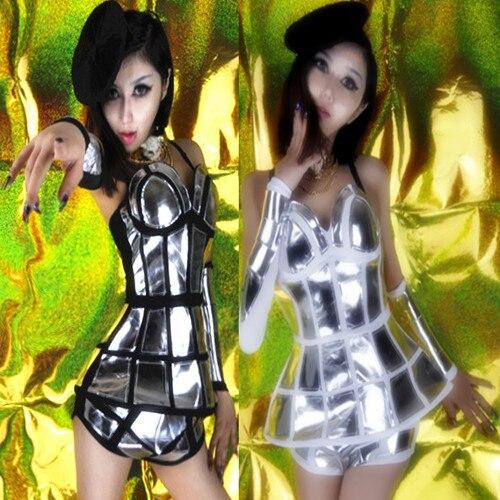 2018 Clubs Ds Sexy Dance Hostess Kostuums New Dj Stage Mirror Rok - Carnavalskostuums
