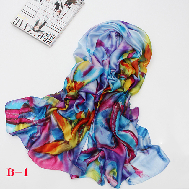 2017 Fashion bandana Luxury Scarve Woman Brand Silk Scarf Women Shawl High Quality Print Spring necessary