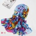 2017 bandana Moda de Lujo de Mujer de Marca Bufanda de Seda Scarve Mantón de Las Mujeres de Impresión de Alta Calidad Primavera necesario