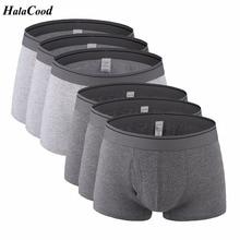 6 stks/partij Hot mannen Ondergoed Nieuwe Kwaliteit Brand Fashion Sexy Mr Underpant Boxers Mannelijke Slipje Plus Size vet Katoen Shorts