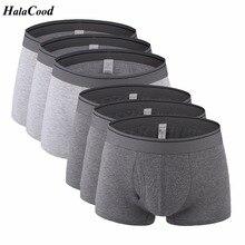 6 teile/los Heißen männer Unterwäsche Neue Qualität Marke Mode Sexy Mr Unterhose herren Boxer Männlichen Höschen Plus Größe fett Baumwolle Shorts