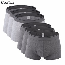 6Pcs/lot Hot Mens Underwear New Quality Brand Fashion Sexy Mr Underpant Mens Boxers Male Panties Plus Size Fat Cotton Shorts