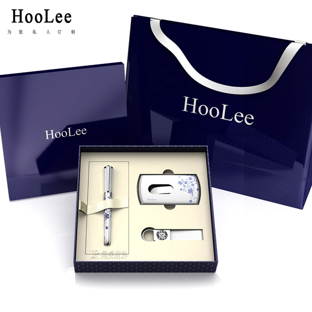 HOOLEE Premier Business Gift Set card holder keychain pen suit upscale corporate gifts