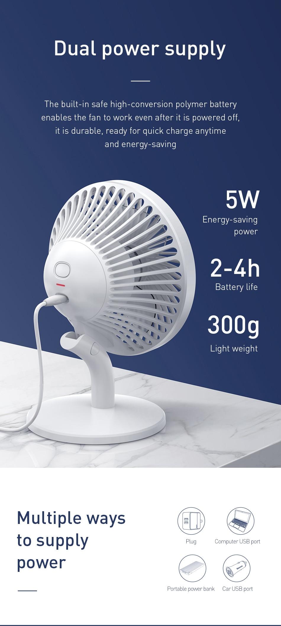 BASEUS Ocean Air Circulation Fan 3