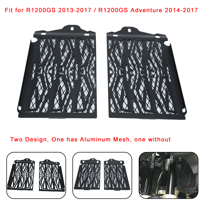 Free Shipping for BMW R1200GS 2013-2017/ R 1200 GS Adventure Water-Cooled 2014 2015 2016 2017 Radiator Grills Guard Cover Grille motorcycle radiator grill grille guard screen cover protector tank water black for bmw f800r 2009 2010 2011 2012 2013 2014